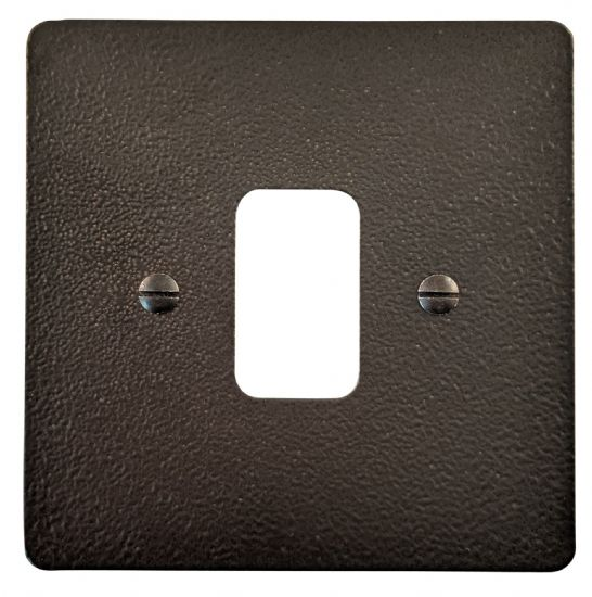 G&H Flat Plate Hammered Black